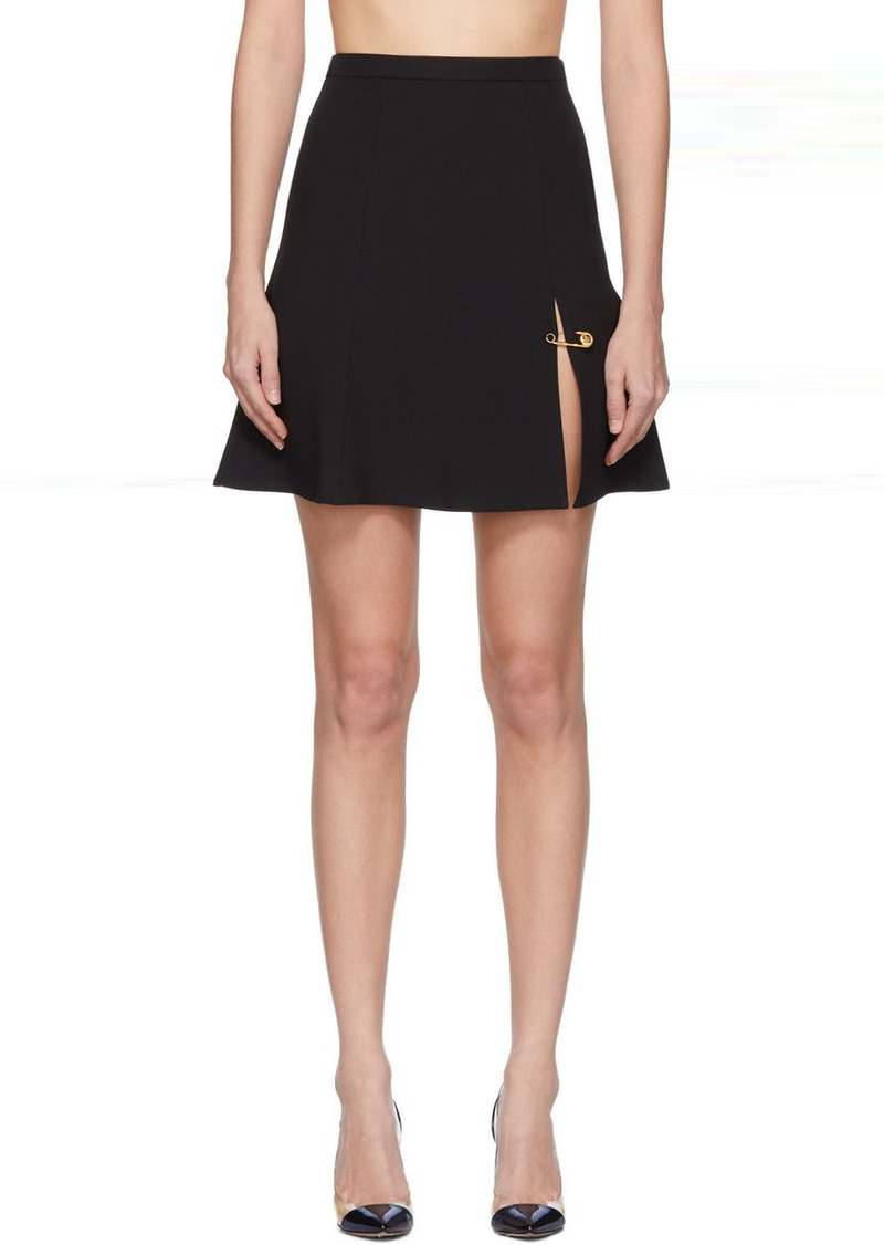 Versace Black Safety Pin Miniskirt