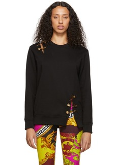 Versace Black Safety Pin Sweatshirt