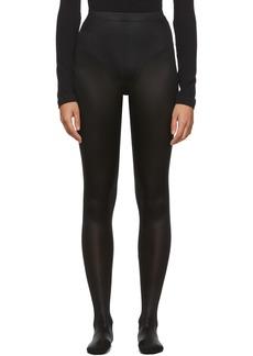Versace Black Shiny Stretch Leggings