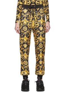 Versace Black Silk Barocco Lounge Pants