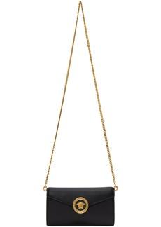 Versace Black Medusa Tribute Wallet Chain Bag