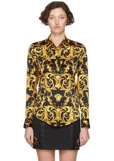 Versace Black 'V' Baroque Shirt