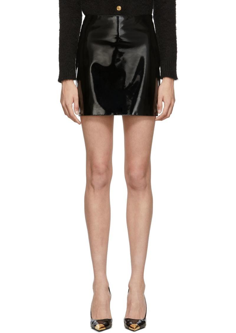 Versace Black Vinyl Miniskirt