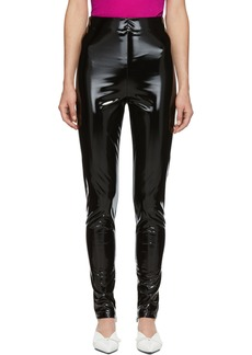 Versace Black Vinyl Pants