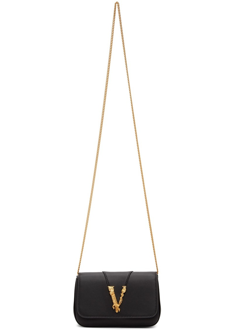 Versace Black Virtus Evening Bag