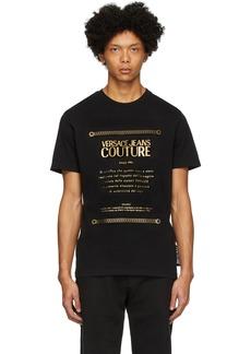 Versace Black Warranty Label T-Shirt