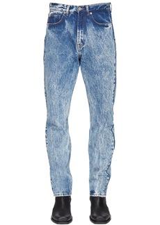 Versace Bleached Cotton Denim Jeans