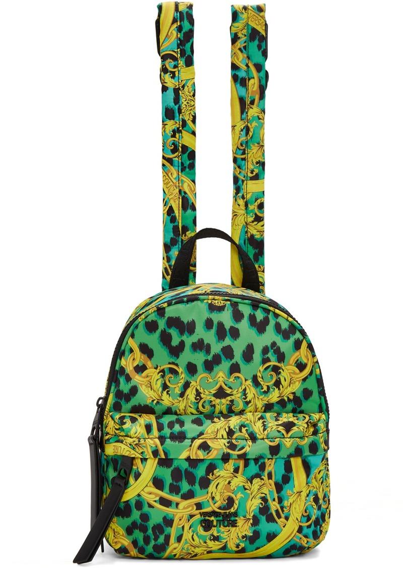 Versace Blue & Yellow Barocco Backpack