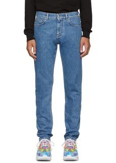 Versace Blue Slim Medusa Head Jeans