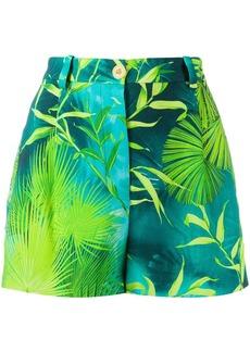 Versace botanical print shorts