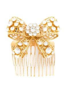 Versace bow crystal hair pin