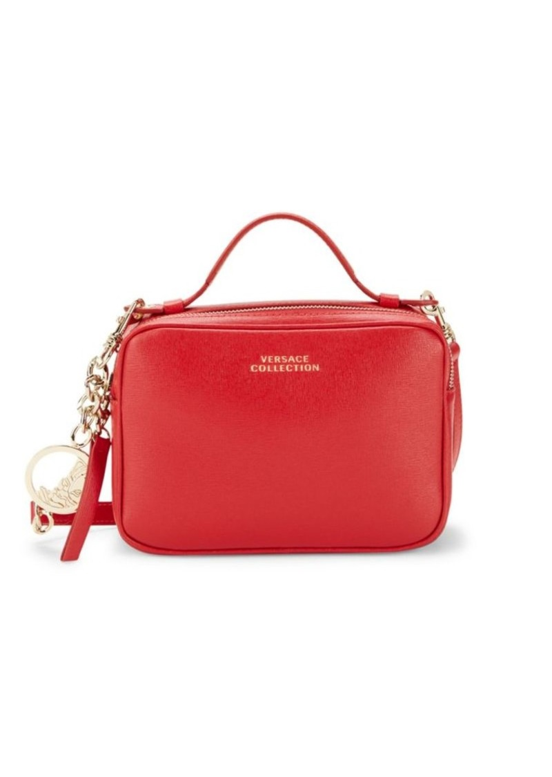 Versace Boxed Leather Crossbody Bag
