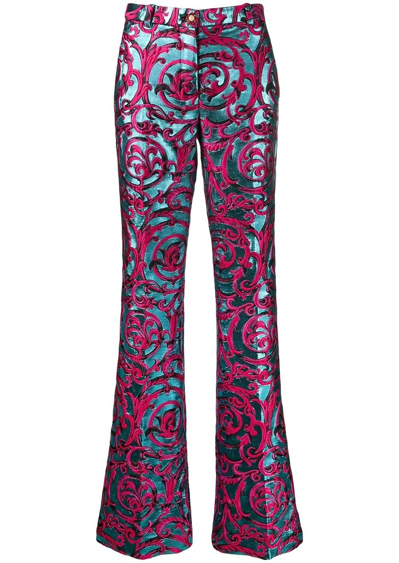 Versace brocade Barocco jacquard flared trousers