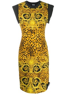 Versace brocade print T-shirt dress