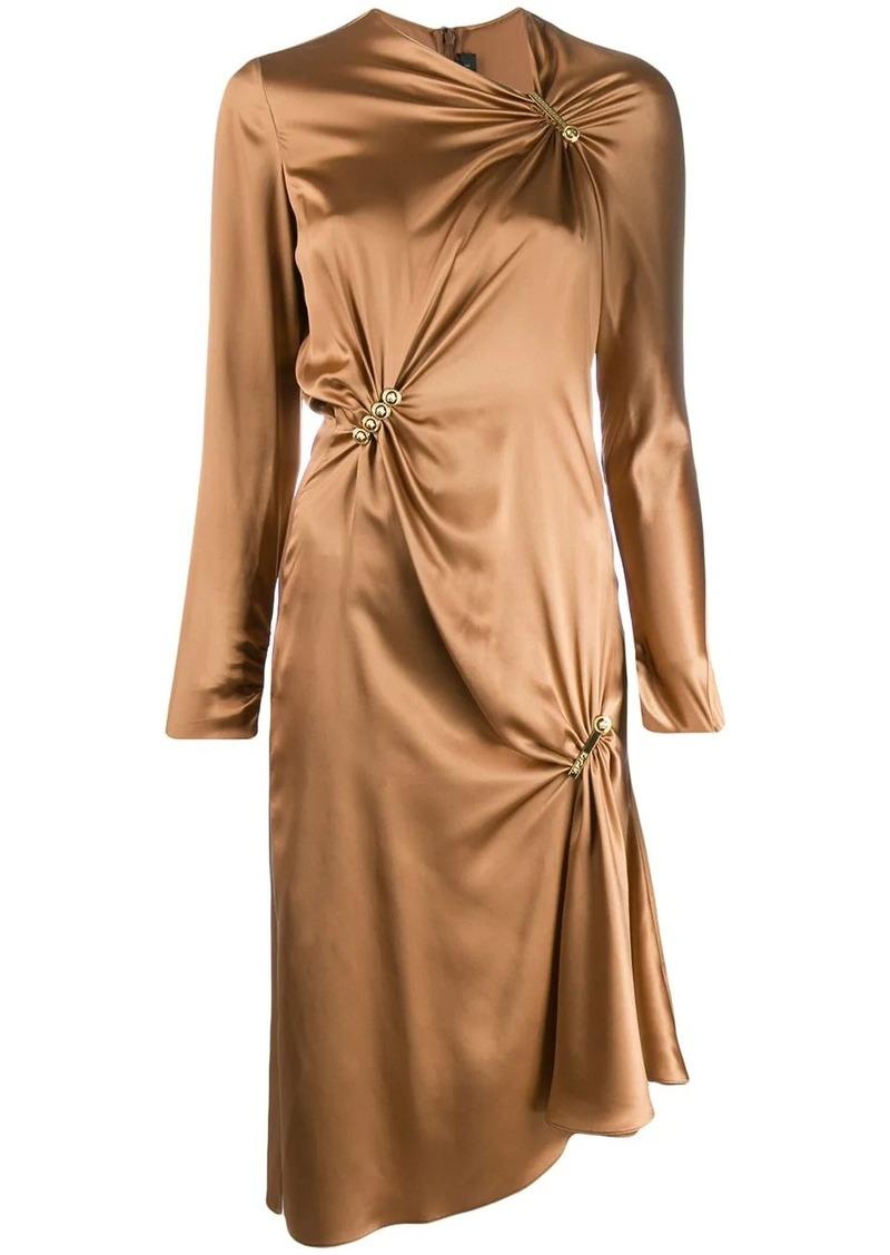 Versace brooch embellished dress