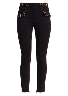 Versace Buckle Detail Ponte Trousers