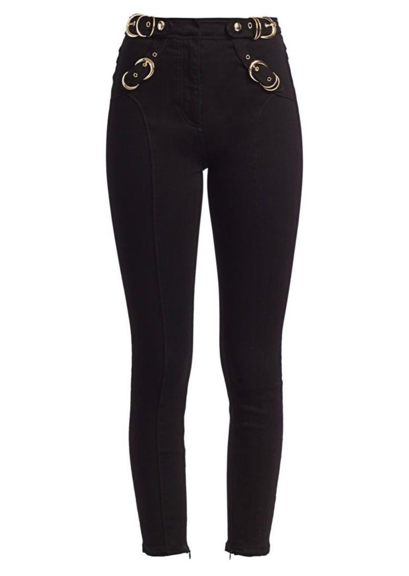 Versace Buckle Detail Slim-Leg Jeans