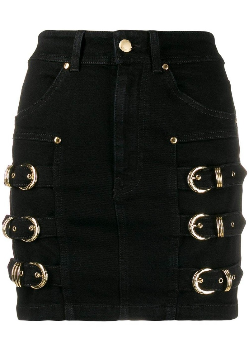 Versace buckle-embellished mini skirt