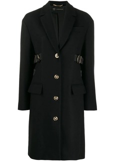 Versace buckle embellished single-breasted coat