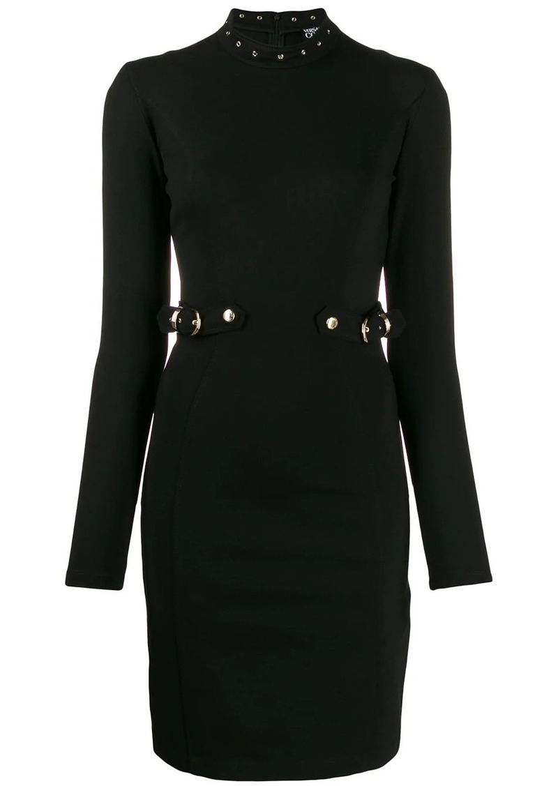 Versace buckle waist short dress