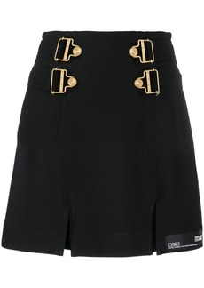 Versace buckled detail mini skirt