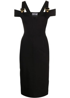Versace buckled fitted dress