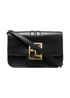 Versace buckled leather crossbody bag