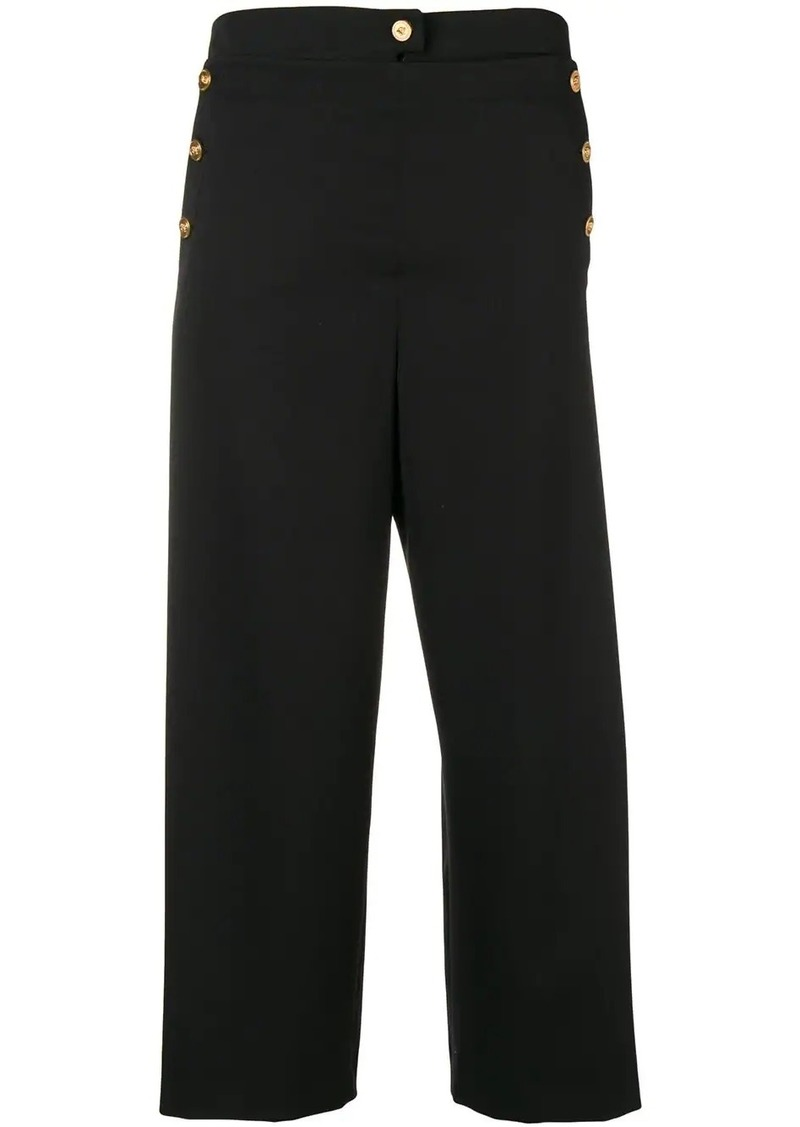 Versace button embellished culottes