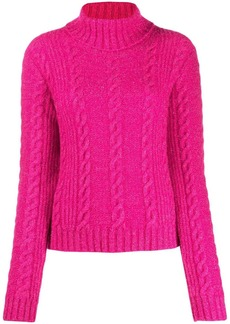 Versace cable-knit rollneck jumper