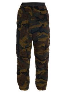 Versace Camouflage Faux Fur Logo Track Pants