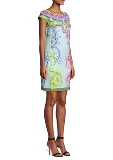 Versace Candy Ferris Wheel Print Mini Dress