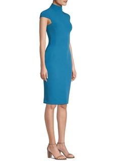 Versace Cap-Sleeve Turtleneck Dress
