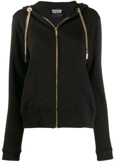 Versace chain drawstring zipped hoodie