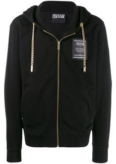 Versace chain-embellished hooded sweatshirt