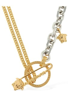 Versace Chain Necklace W/ Safety Pin