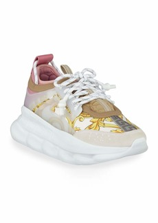 Versace Chain Reaction Barocco-Print Chunky-Heel Sneakers