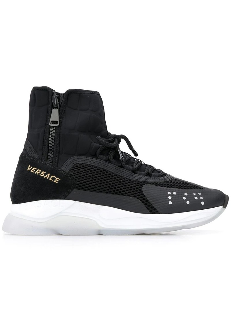 Versace Chain Reaction high-top sneakers
