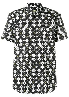 Versace check print shirt