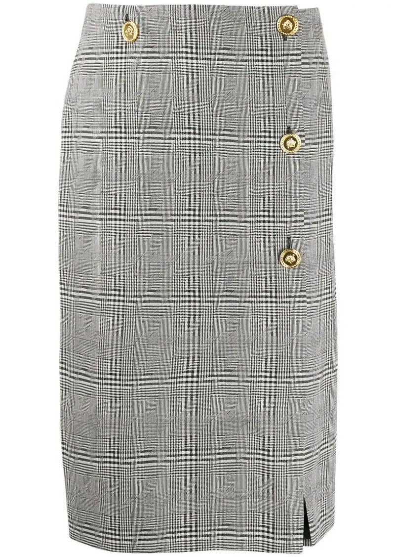 Versace checked pencil skirt