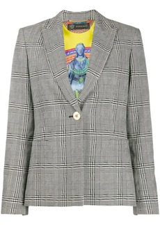 Versace checked single-breasted blazer