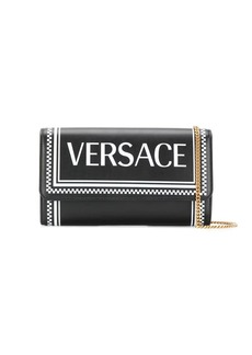 Versace checkered logo crossbody bag