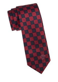 Versace Checkered Silk Tie