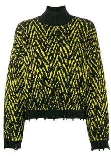 Versace Chevron knit jumper