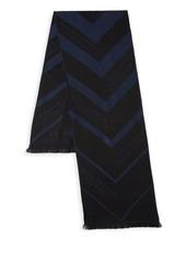 Versace Chevron Stripe Logo Scarf
