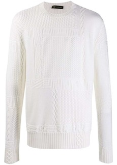 Versace chunky knitted jumper