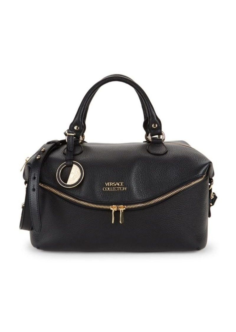 Versace Classic Leather Top Handle Bag