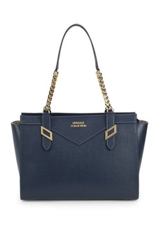 Versace Classic Logo Leather Tote