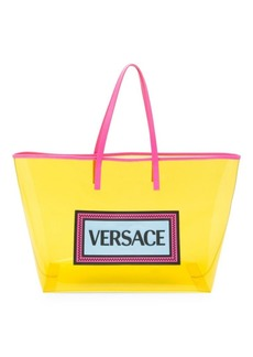 Versace Clear Vinyl Tote Bag