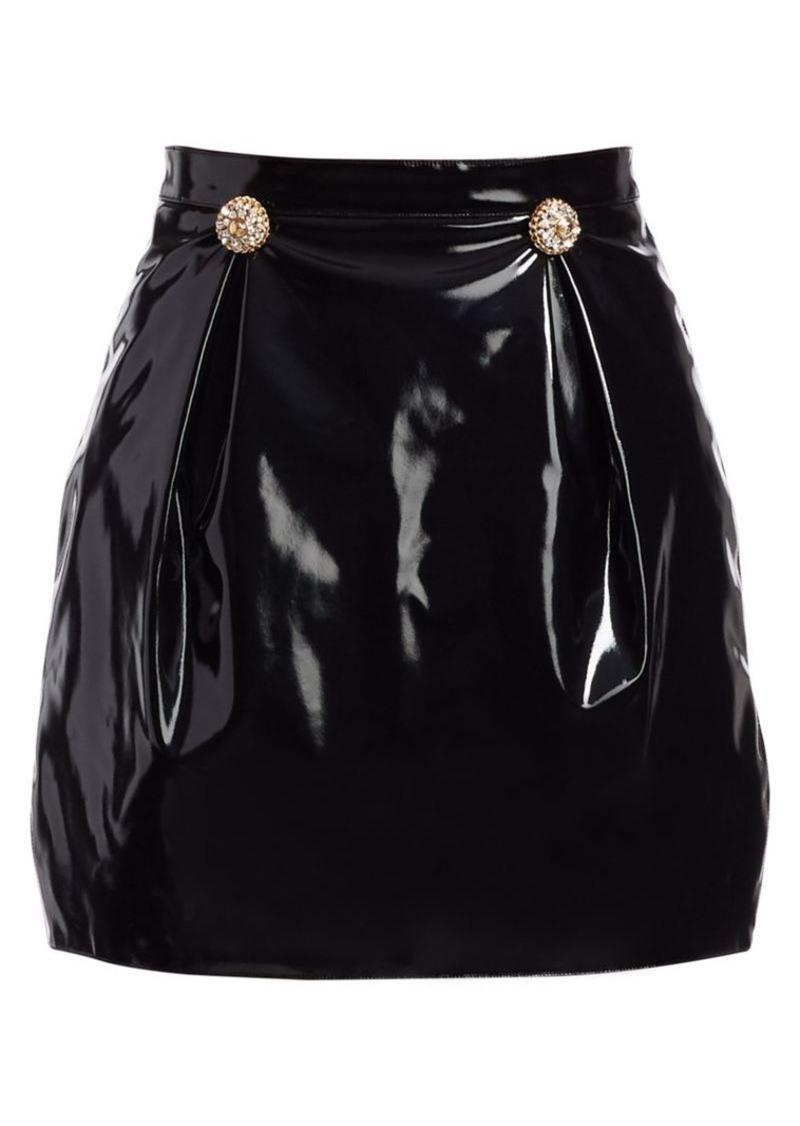 Versace Coated Cady Tulip Mini Skirt