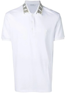 Versace collar detail polo shirt